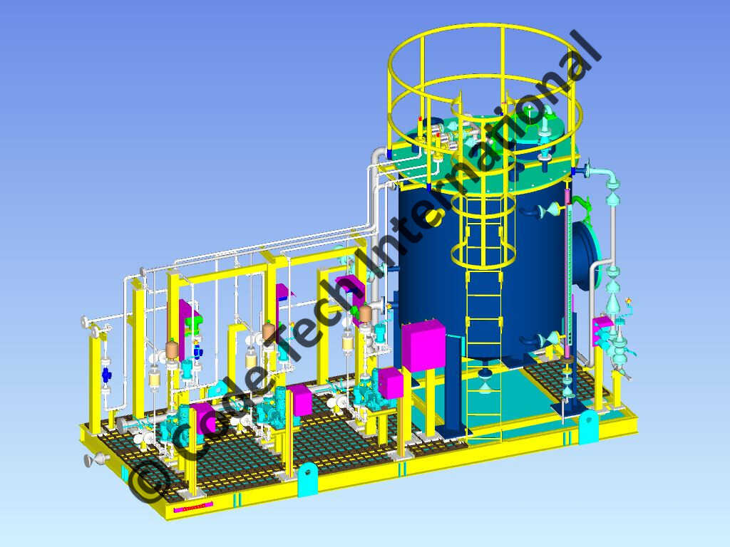 Corrosion Inhibitor Injection Skid Package CADWorx Model