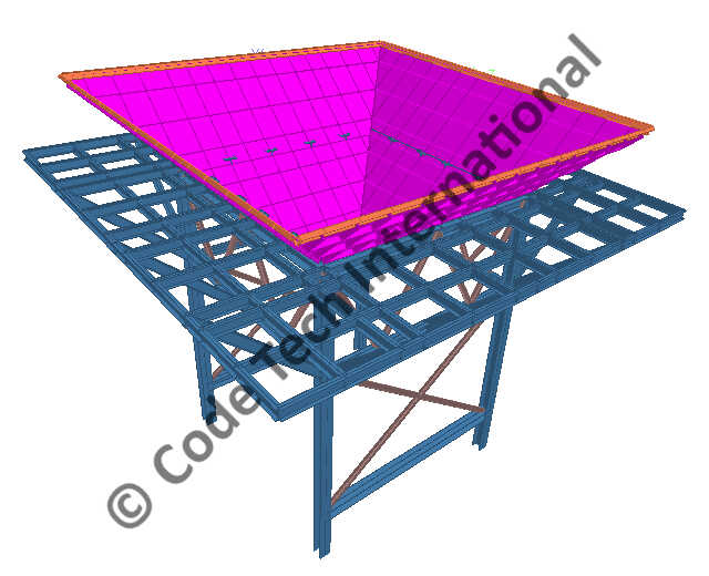 Fully Movable Hopper STAAD Structural Analysis 1