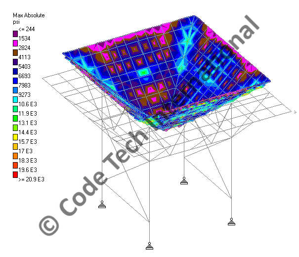 Fully Movable Hopper STAAD Structural Analysis 2