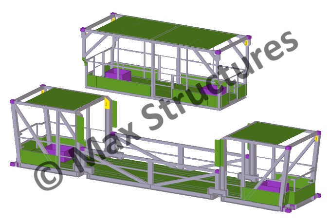Manlift Cage Safety Basket Tekla Structures 3D Modeling