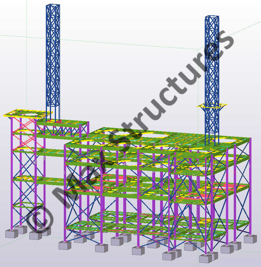 Mounting Building Complex 3D Modeling and Steel Detailing on Tekla Structures
