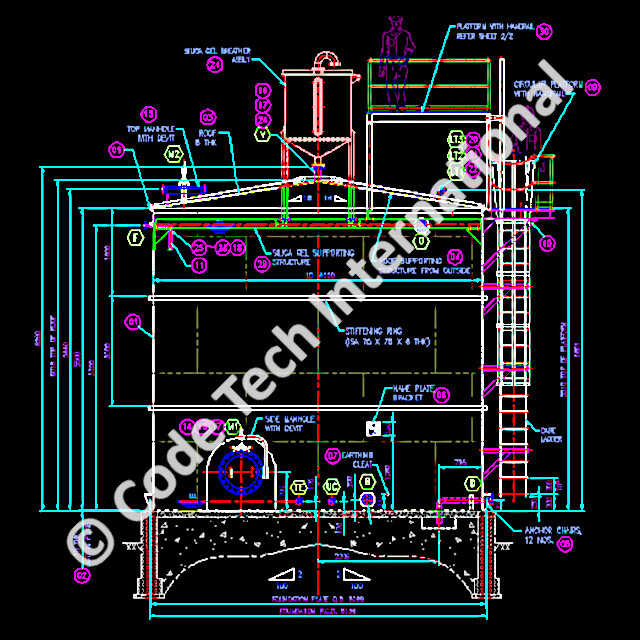 Sulphuric Acid Storage Tank AutoCAD Detail Engineering